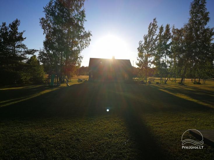 Brīvdienu mājas, telpas, pirts, zāle sētā Jūrkalnē PALMAS - 14