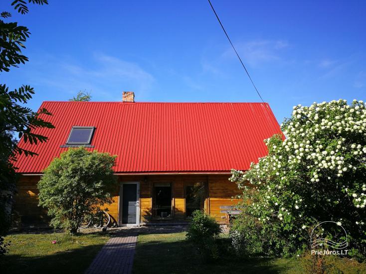 Domki, pokoje, łaźnia, sala w zagrodzie w Jurkalne PALMAS - 6