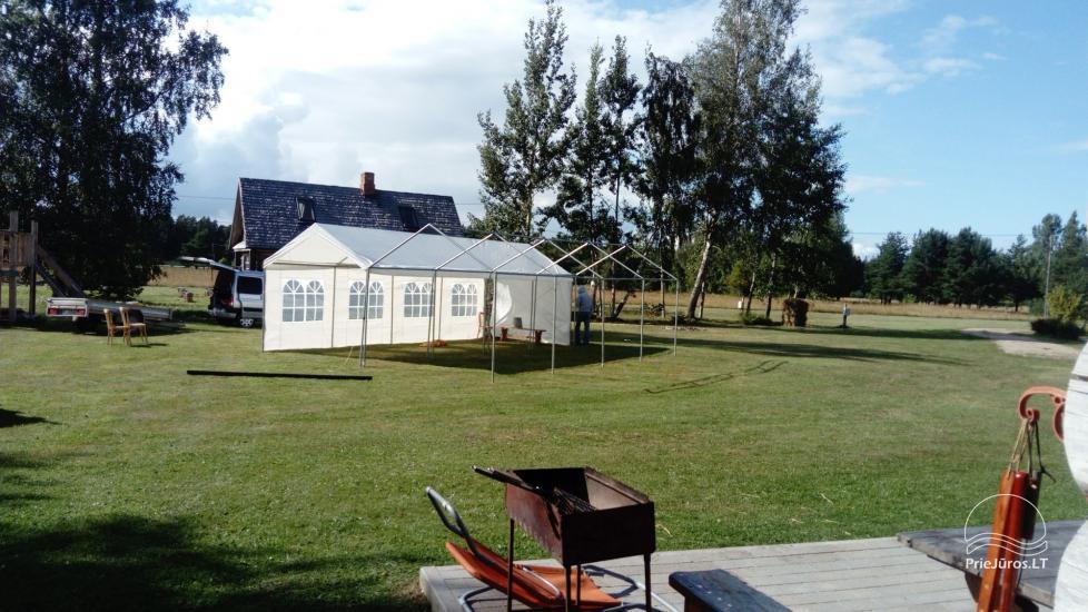 Nameliai, kambariai, pirtis, salė Jūrkalnėje sodyboje PALMAS - 23