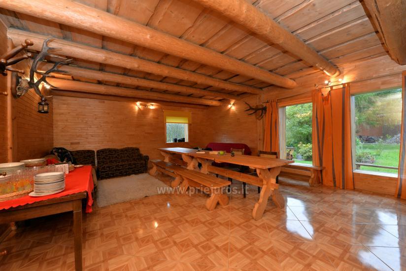 Nameliai, kambariai, pirtis, salė Jūrkalnėje sodyboje PALMAS - 11