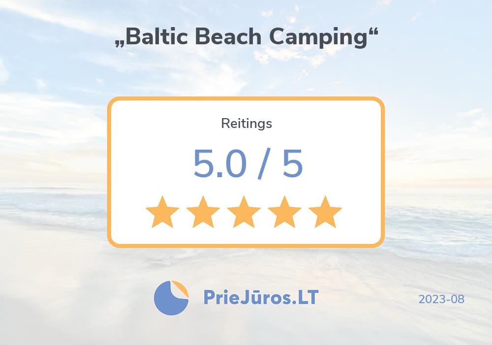 """Atpūtnieku atsauksmes – """"Baltic Beach Camping"""""""