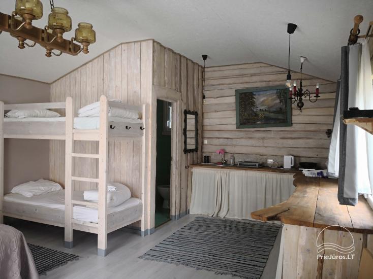Svečių namai Vecmuiža Latvijoje: nameliai, kambariai, pirtys, kubilas - 14