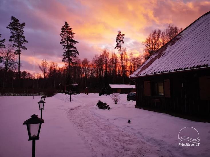 Svečių namai Vecmuiža Latvijoje: nameliai, kambariai, pirtys, kubilas - 31