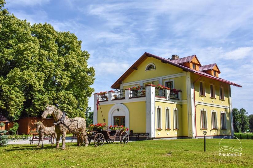 Svečių namai ir kempingas Ventspilio rajone  Leču muiža - 1