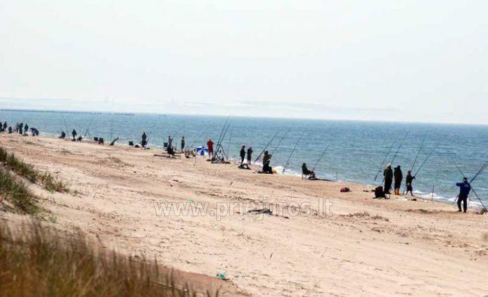 Fishing in the sea and lake Pape, boat rent for fishermen. Holiday home in Liepaja region Aulaukio Baltija