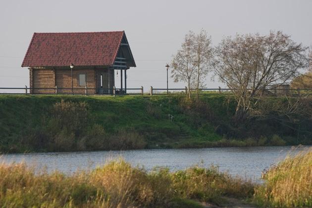 Bathhouse in Guest House Ventaskrasti