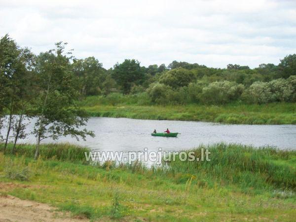 Boat rent, fishing in Venta river, Guest House and Camping Ventaskrasti