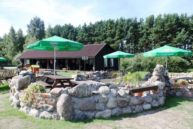 Kavinė poilsio ir pramogų komplekse Liepojos rajone Verbelnieki