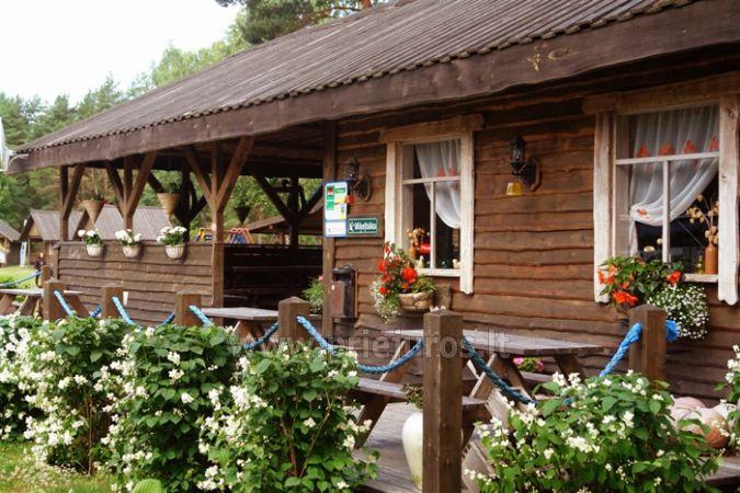 Summer cafe in camping in Ventspils region  Mikelbaka
