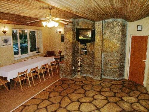 Pirtis, banketų salė, kavinė - baras Papėje, svečių namuose Papes Cakstes
