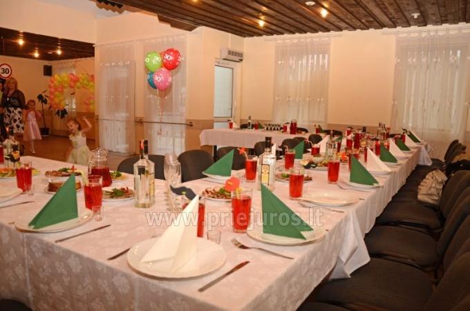 Banketų - konferencijų salės ir sauna svečių namuose Ventspilyje Veldzes Nams
