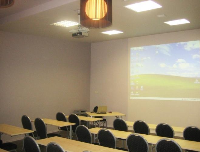 Konferencijų, seminarų salė svečių namuose Poriņš Liepojoje
