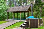 House for events with a banquet hall, bedrooms, sauna, hot tub, outdoor swimming pool - 3